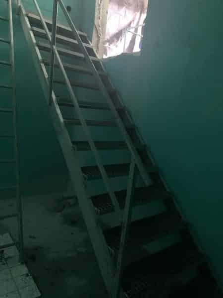 Treppe in Hochbehälter eingebaut